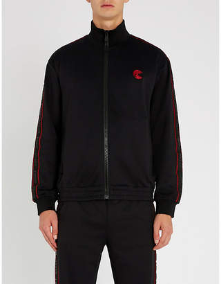 Bally x Shok-1 Pac-Man-motif zip-up jersey jacket
