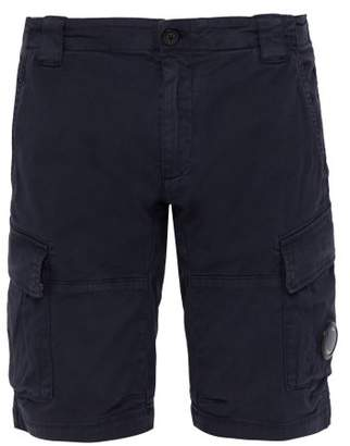 C.P. Company Lens Cotton Twill Cargo Shorts - Mens - Navy