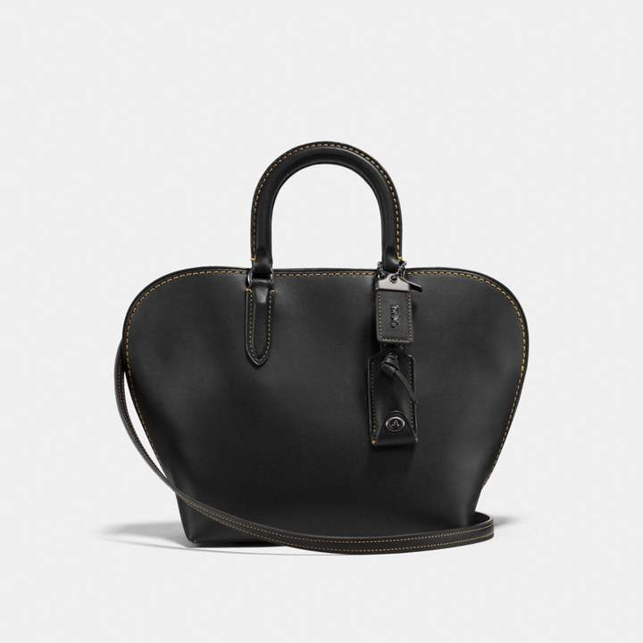 Coach Dakotah Satchel 22 - BLACK/BLACK COPPER - STYLE