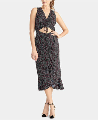 Rachel Roy Cutout Drawstring Midi-Dress