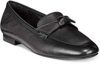 Alfani Women's Cass Step 'N Flex Bow Loafer Flats, Created for Macy's