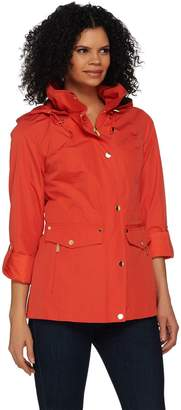 Susan Graver Snap Front Anorak Jacket with Hood