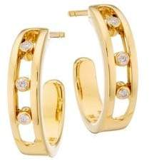 Möve Messika Classic 18K Yellow Gold& Diamond Hoop Earrings