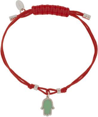 Jemulet Sterling Silver Touch of Luck Hamsa Charm Bracelet