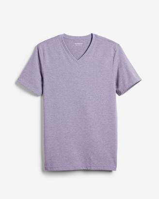 Express Heathered Slim Stretch V-Neck Tee