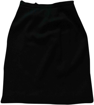 Cerruti Black Wool Skirt for Women Vintage