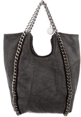 Stella McCartney Falabella Chain-Link Canvas Tote