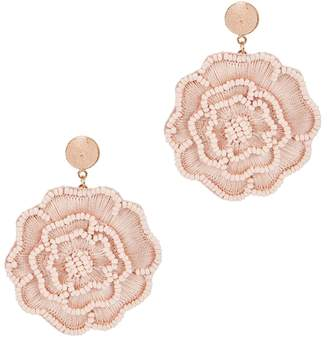 BaubleBar Melvina Blush Floral Drop Earrings