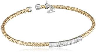 Vamp London Entwined Dainty 18ct Yellow Gold Plated Sterling Silver Bracelet ENB004-YG-C