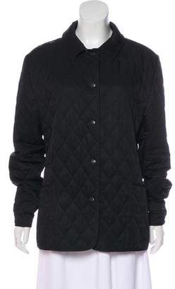 Burberry Nova Check-Lined Quilted Jacket