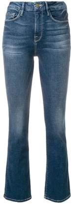 Frame boot-leg jeans