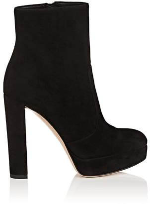 Gianvito Rossi Women's Brook Suede Platform Ankle Boots