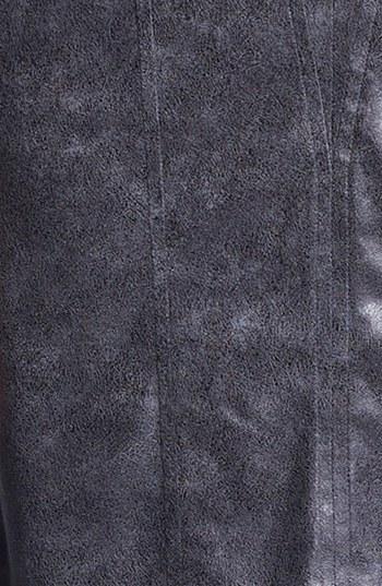 Vince Camuto Seamed Faux Leather Sheath Dress