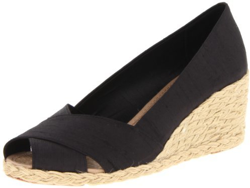 Lauren Ralph Lauren Women's Cecilia Wedge Sandal,Black,7 B US