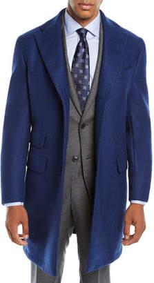 Neiman Marcus Men's Solid Wool Top Coat