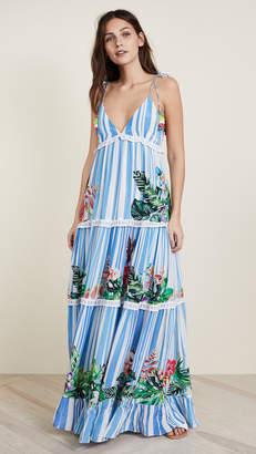 Rococo Sand Stripe Blossom Long Dress