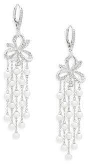 Adriana Orsini Marion Faux Pearl and Crystal Dangle Earrings
