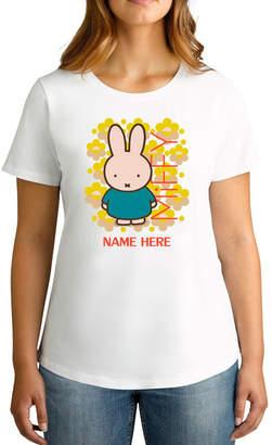 Twidla Women's Miffy Fluro Flowers Personalised Cotton T-Shirt