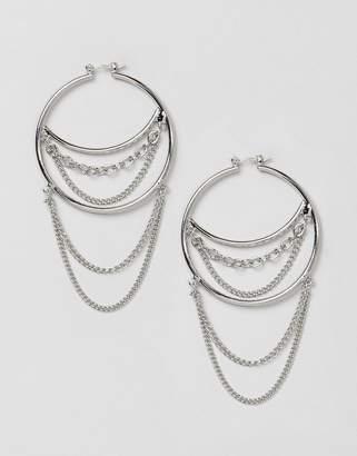 New Look hoop earrings with hanging chain