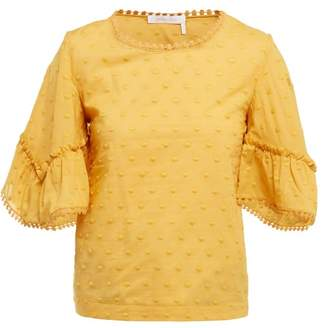 See by Chloe Polka Dot Cotton Top - Womens - Yellow