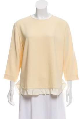 Stella McCartney Three-Quarter Sleeve Woven Top