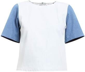 PAISIE - Two Tone Denim T-Shirt