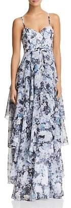 Fame & Partners The Catherine Tiered Floral Gown