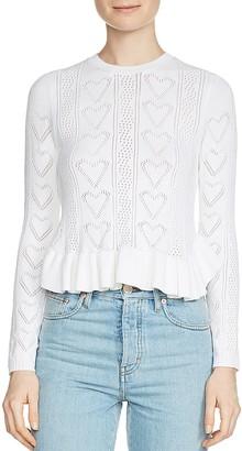 Maje Malice Heart-Stitch Sweater $325 thestylecure.com