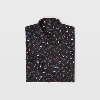 Club Monaco Slim Ditsy Paintbrush Shirt