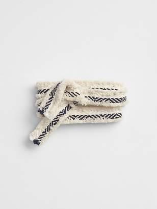 Gap Woven Fringe Tie-Belt