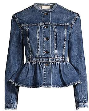Rebecca Taylor Women's Denim Peplum Jacket