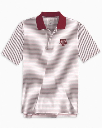 Southern Tide Texas A&M Aggies Pique Striped Polo Shirt