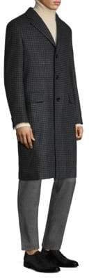 Brioni Herringbone Cashmere Overcoat
