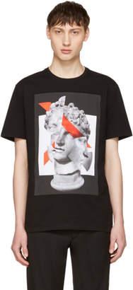 Neil Barrett Black Panelled Geometric Sculpture T-Shirt