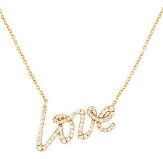 Tiffany & Co. 18K Diamond Love Pendant Necklace