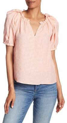 Rebecca Taylor Rose Silk Blend Cloque Top