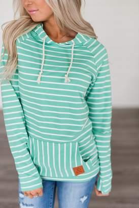 Ampersand Avenue SingleHood Sweatshirt - Green Stripe