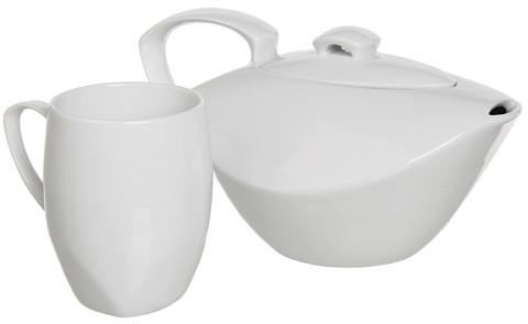Dansk Classic Fjord Porcelain Teapot for One