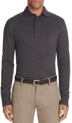 Brooks Brothers Knit Oxford Long Sleeve Regular Fit Polo Shirt $128 thestylecure.com