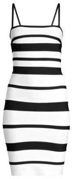Herve Leger Striped Bandage Mini Dress