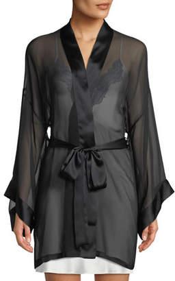 Christine Designs Limelight Semisheer Chiffon Robe
