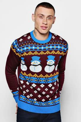 boohoo Snowman Christmas Jumper