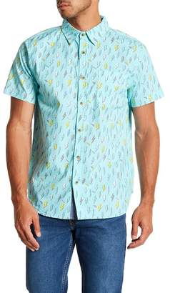 Straight Faded Lightning Short Sleeve Modern Fit Shirt