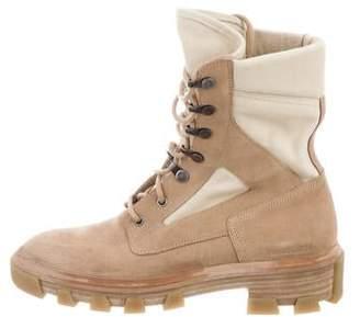Balenciaga Suede Military Boots