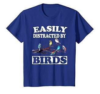 Easily Distracted By Birds T-Shirt Birdwatching Birding