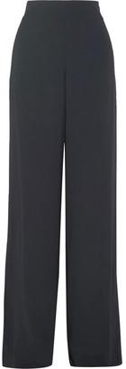 Maison Margiela - Crepe Wide-leg Pants - Midnight blue $795 thestylecure.com