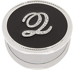 Crystal Initial Compact Magnified Mirror byLori Greiner