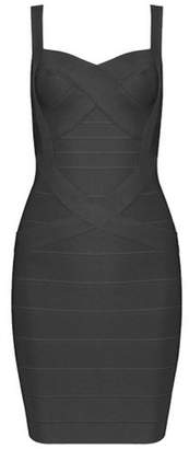 Whoinshop Women's Cute Sleeveless Rayon Bandage Bodycon Strap Dress (XL, )