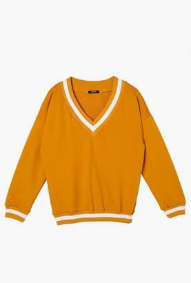 Azalea Varsity V Neck Sweatshirt