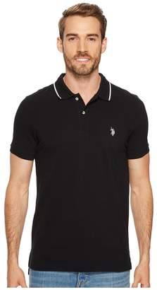 U.S. Polo Assn. Slim Fit Solid Short Sleeve Pique Polo Shirt Men's Short Sleeve Pullover